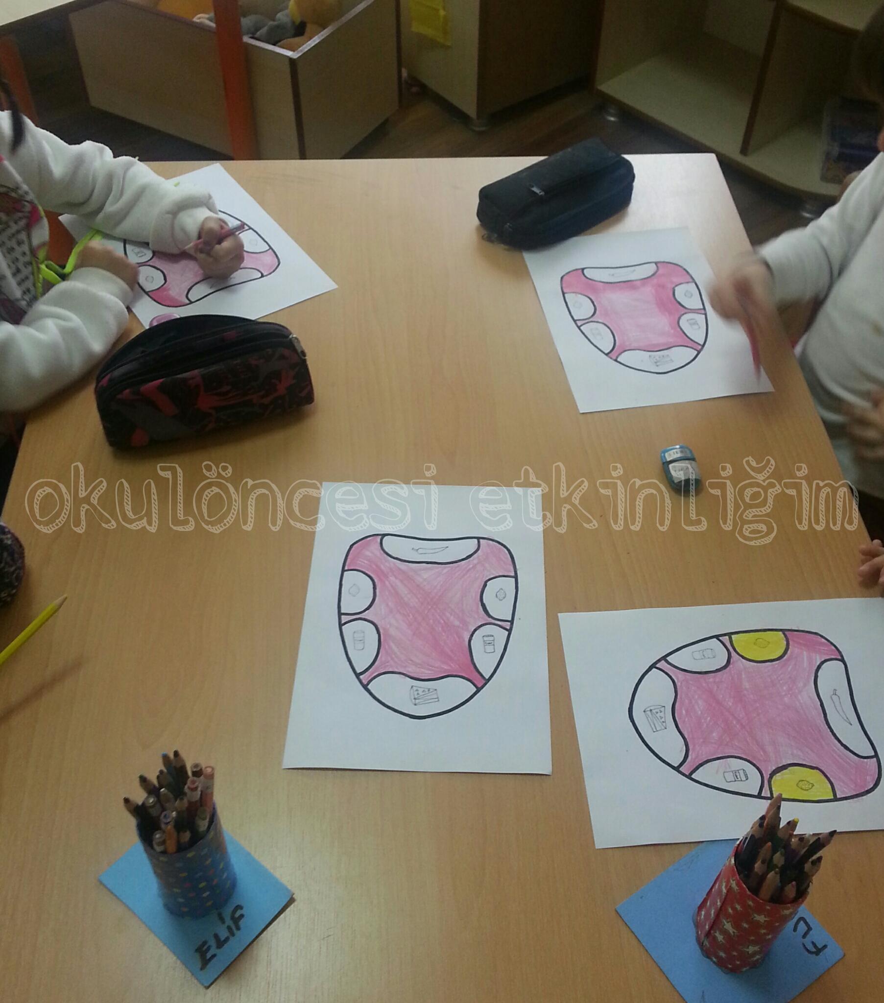 Duyu Organları Sanatla Bütünleştirilmiş Tat Deneyi Okul öncesi