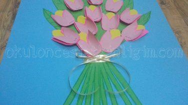 Bir Buket çiçek öğretmenler Günü Etkinliği Okul öncesi Etkinlikleri