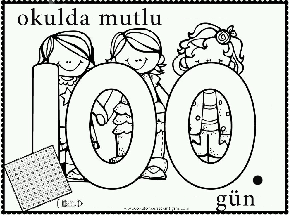 100 Gun 4 Okul Oncesi Etkinlikleri