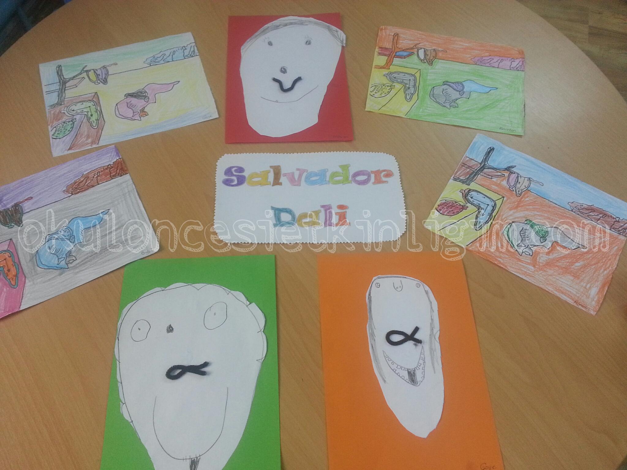 Salvador Dali Boyama Sayfasi Okul Oncesi Etkinlikleri