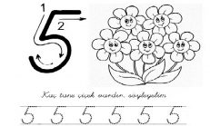 8 Rakamı çizgi çalışması Okul öncesi Etkinlikleri