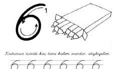 6 Rakamı Çizgi Çalışması