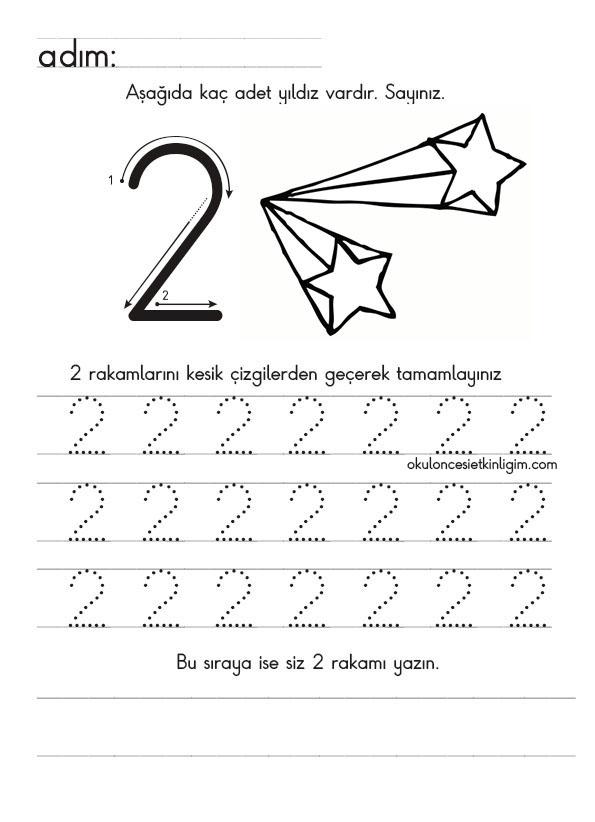 1 Den 9 A Yönlü Düz Yazı Rakam çalışmaları Okul öncesi Etkinlikleri
