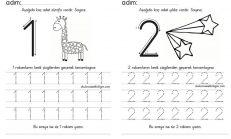 çalışma Sayfaları Okul öncesi Etkinlikleri