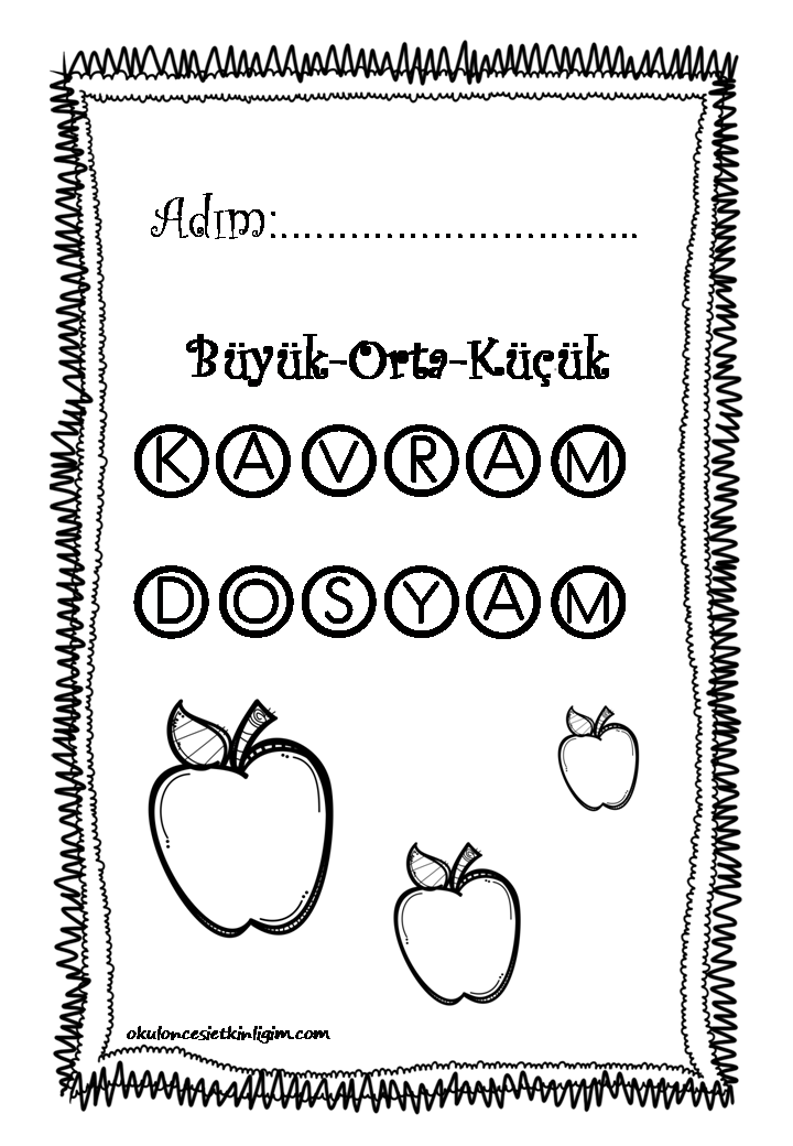 Kavram Dosyası Okul öncesi Etkinlikleri