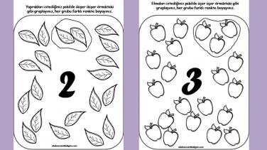 Sayı Gruplama çalışma Sayfaları Okul öncesi Etkinlikleri